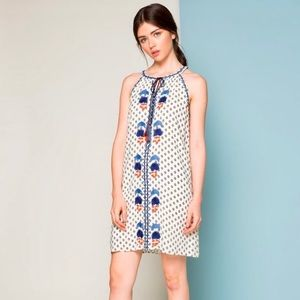 NEW Beautiful Empire Neck Embroidered Dress